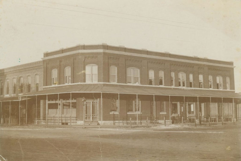 Early photo of the Wolf hotel