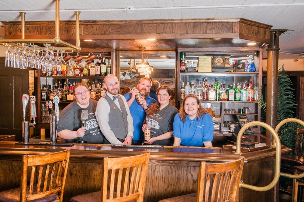 The Historic Wolf Hotel staff in Ellinwood, Kansas